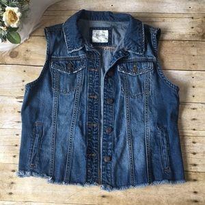 Mudd Denim Jean Vest Size Large